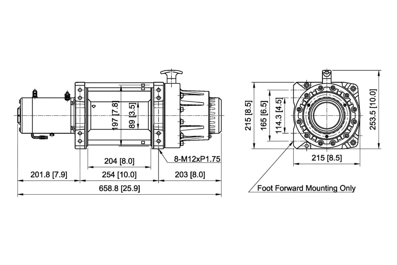 16 500 Lbs Seal Gen2 16 5s Electric Winch W Roller