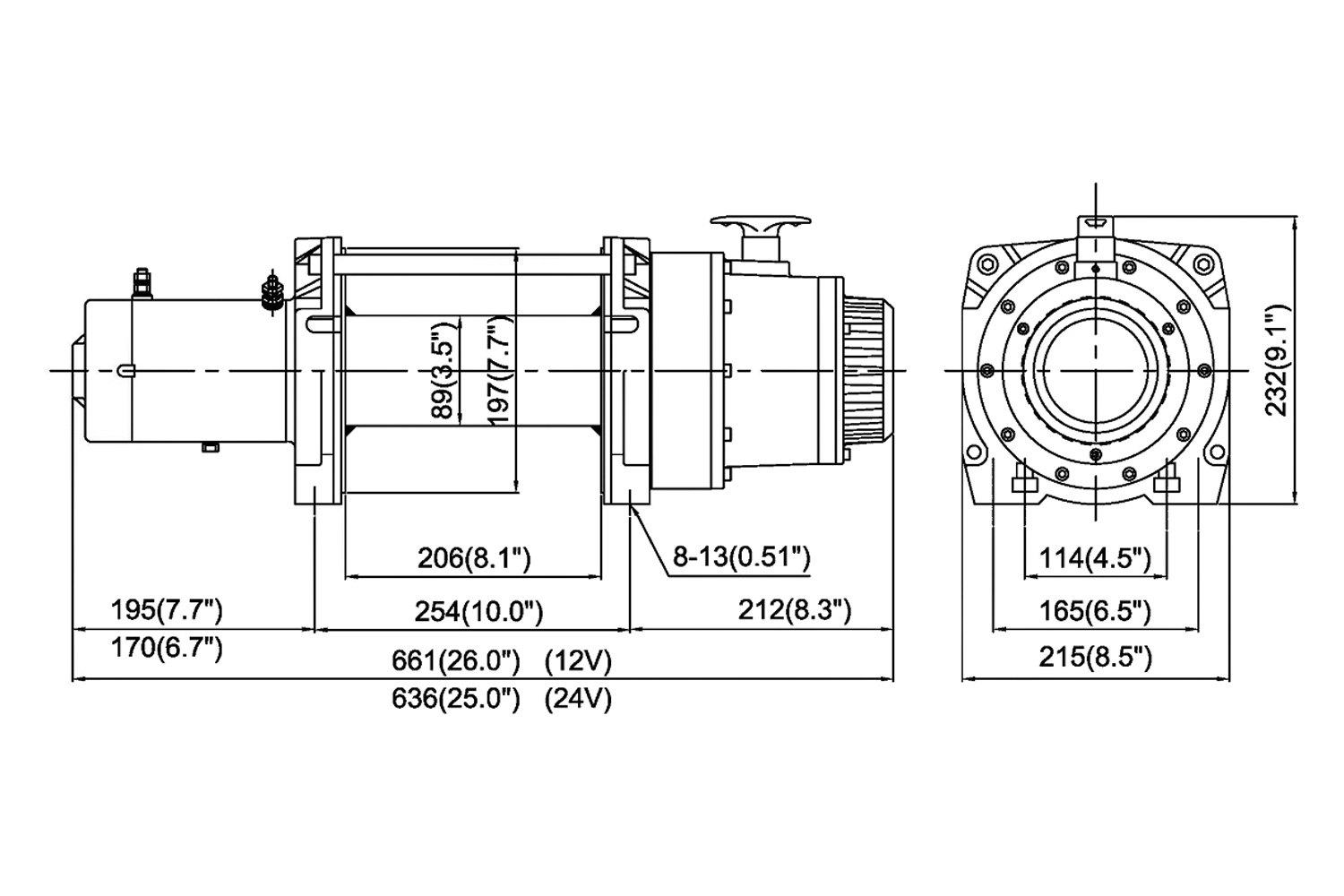 Comeup 15 000 Lbs Dv Electric Winch W Wire Rope