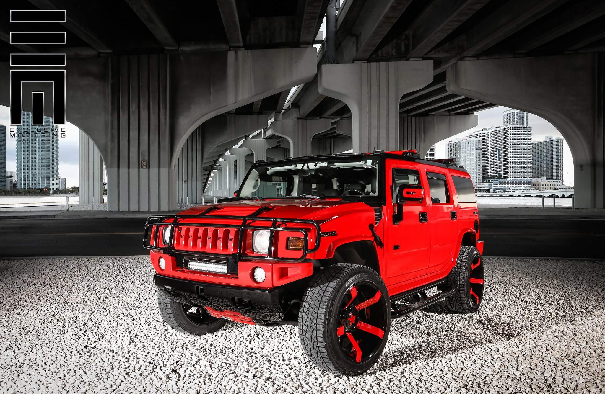 Red Hummer H2 With f road Mods by Exclusive Motoring — CARiD