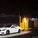 Black And White Perfection Infiniti G37 Coupe Fitted With Vossen Rims Carid Com Gallery
