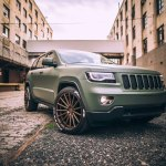 Jeep Awareness Green Matte Jeep Grand Cherokee Wearing Bronze Rims Carid Com Gallery