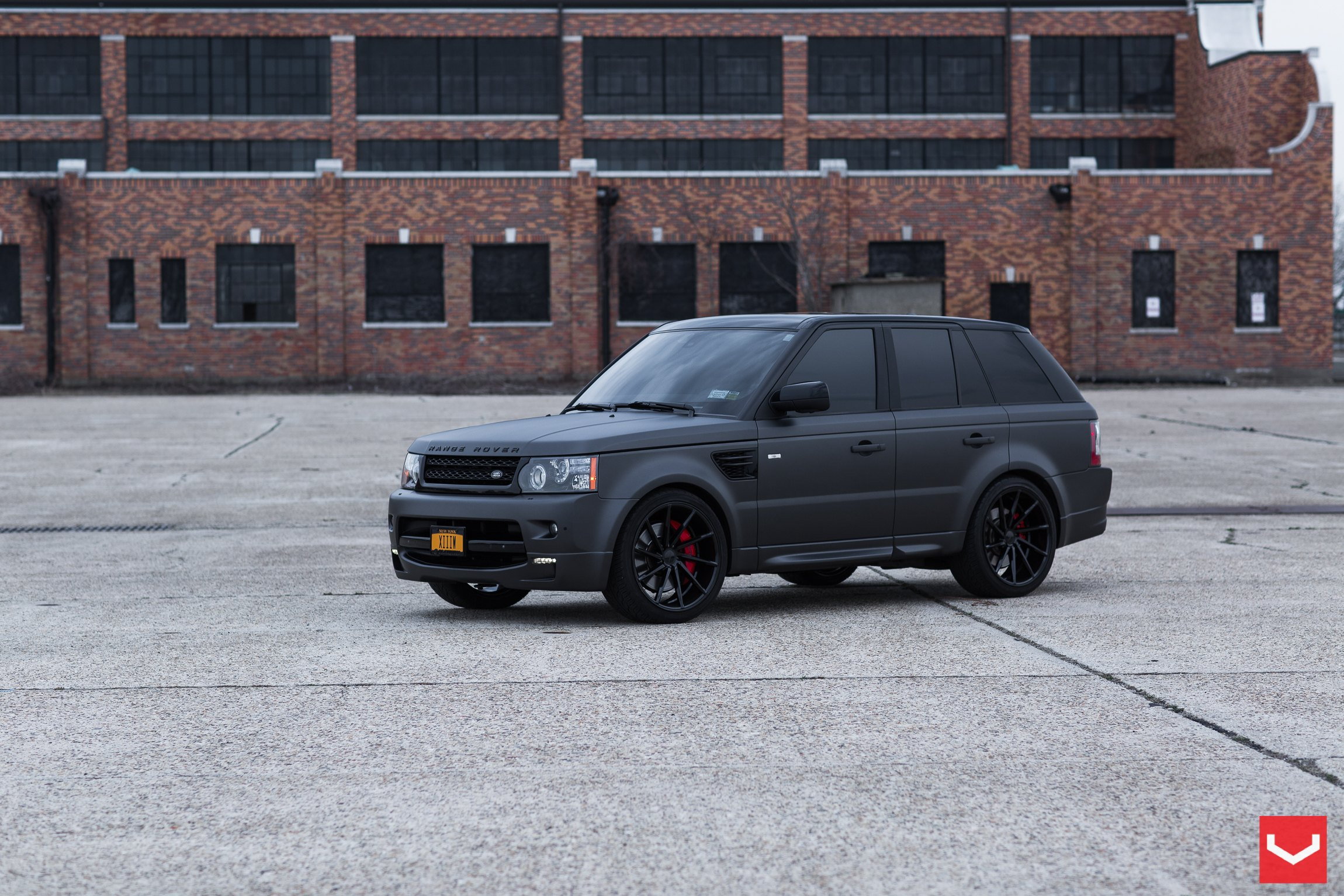 Black on Black Matte Land Rover Range Rover Sport with Custom