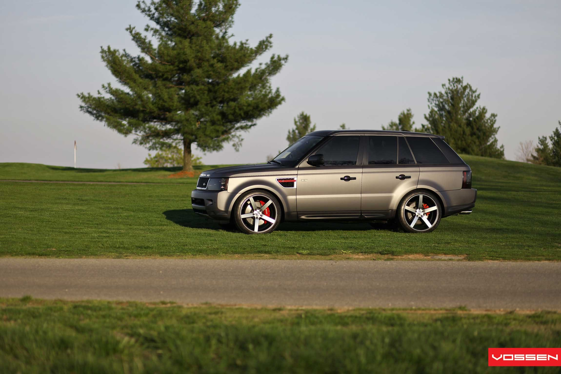 Mean Matte black Range Rover Sport With Tinted Lights — CARiD