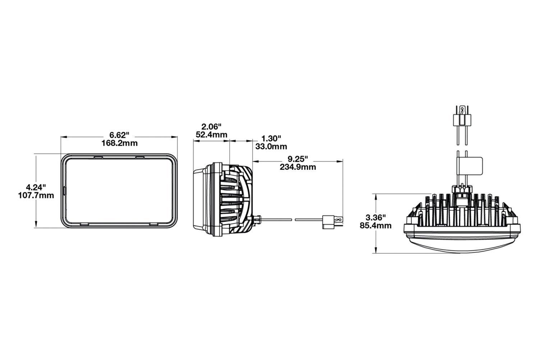 For Chevy Camaro 82 92 Headlight 4x6 Rectangular Chrome