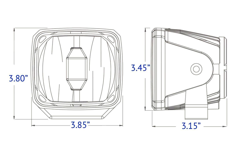 Kc Hilites Gravity G34 Sae Ece 4 X3 16w Rectangular Driving Beam Led Light