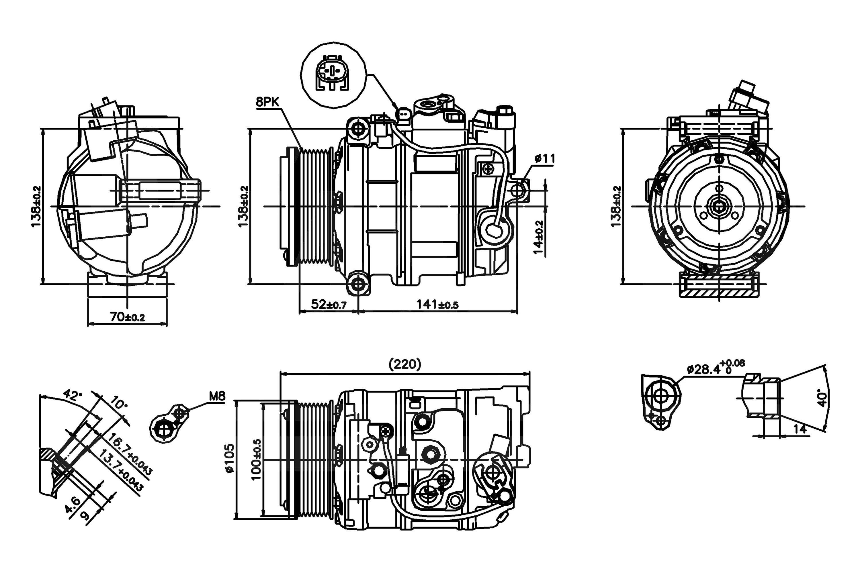 Car A C Compressor