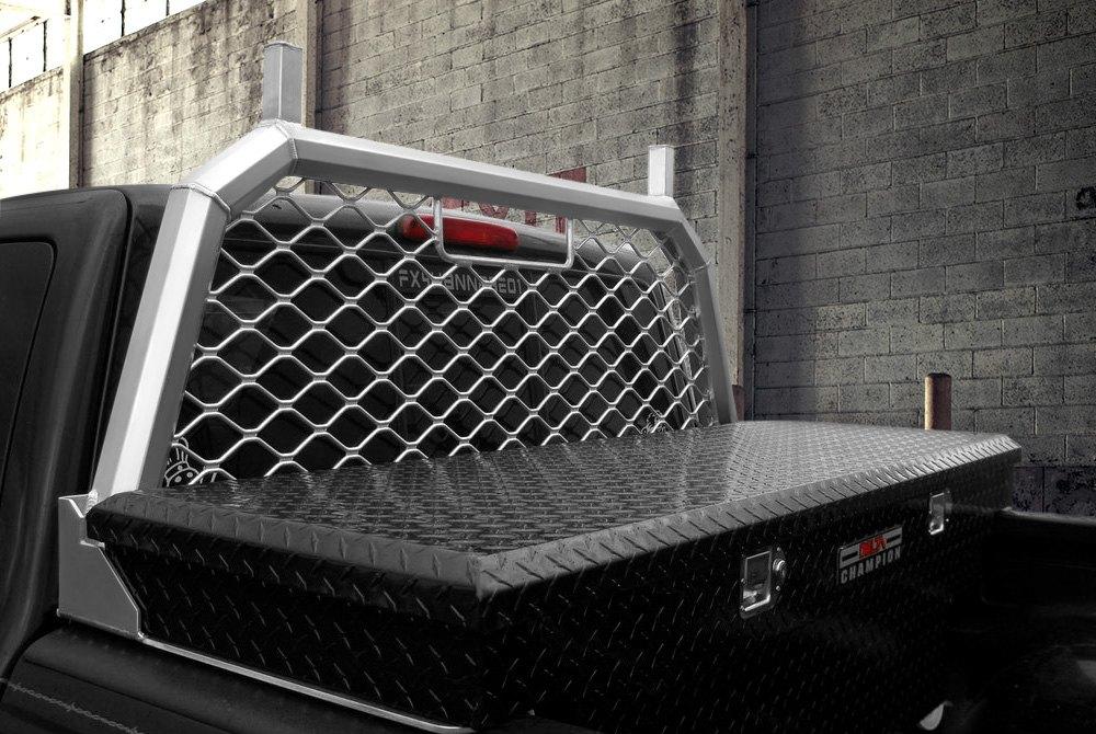 truck headache racks louvers mesh
