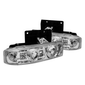 Spyder®  GMC Safari 2000 Chrome Halo Projector LED Headlights