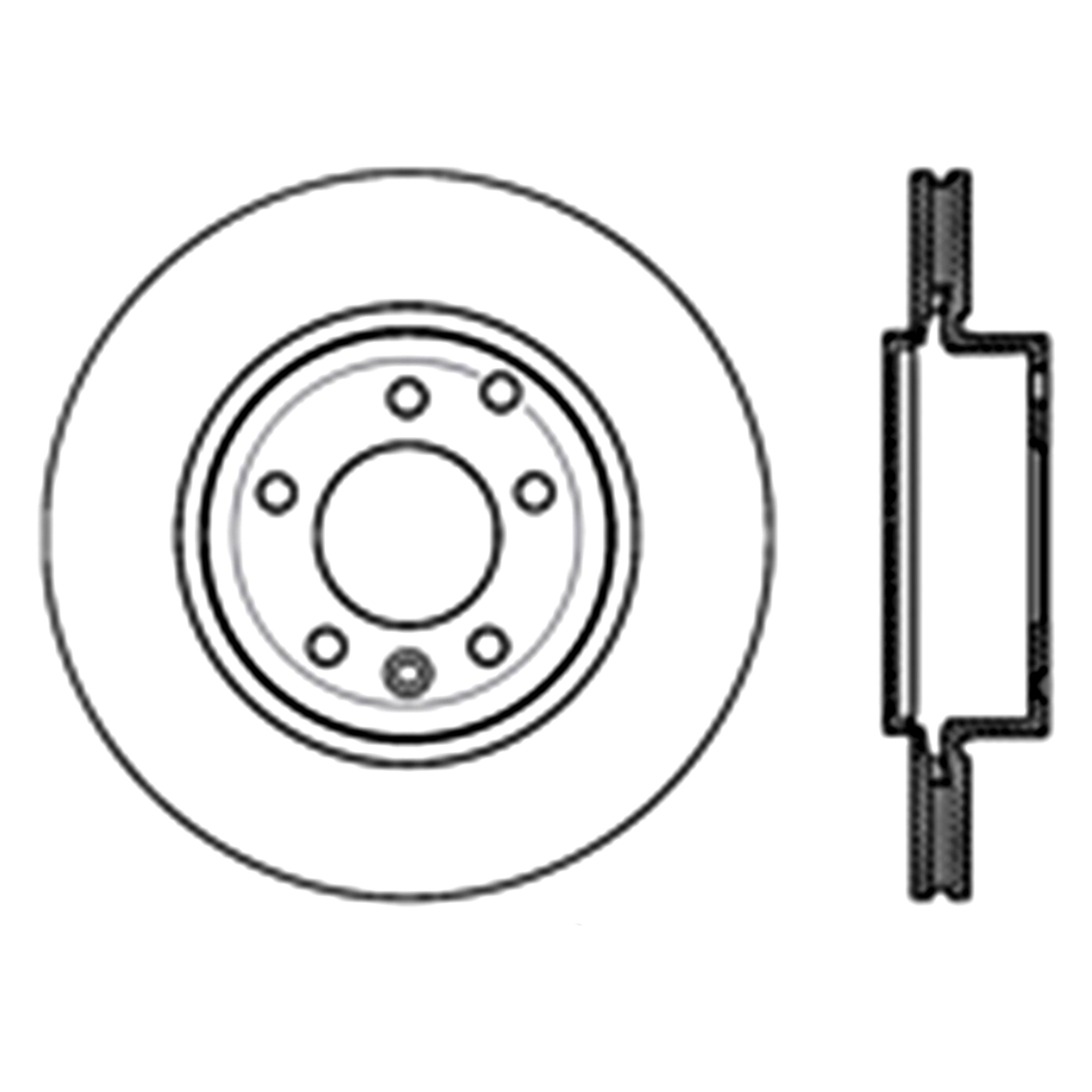 For Land Rover Lr2 08 12 Sport Slotted 1 Piece Rear