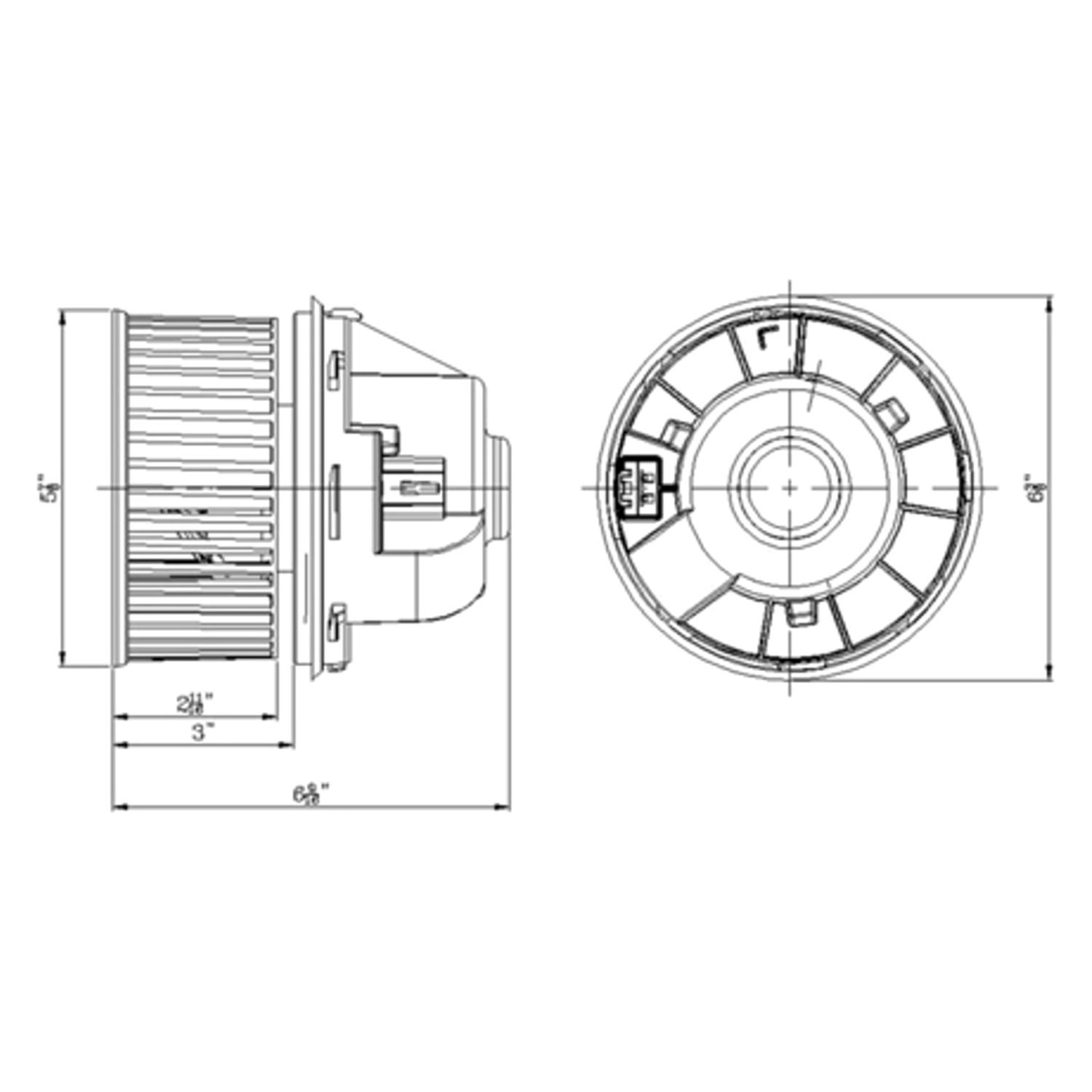 For Ford Focus Tyc Hvac Blower Motor
