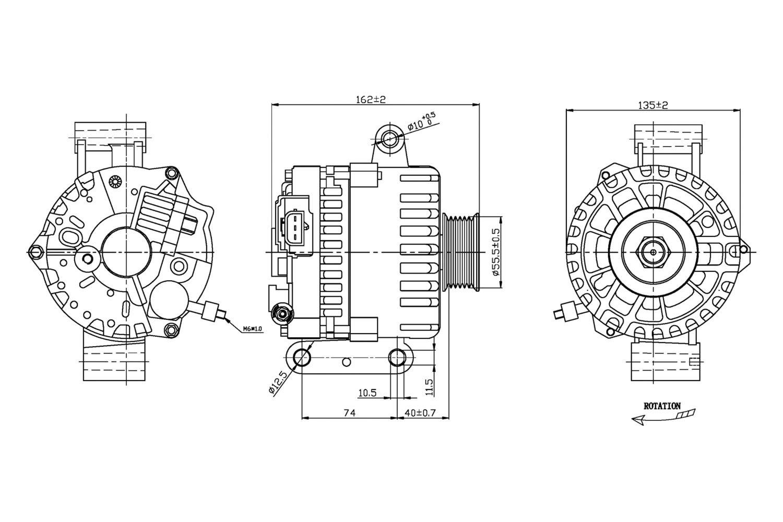 For Ford Focus Tyc Alternator