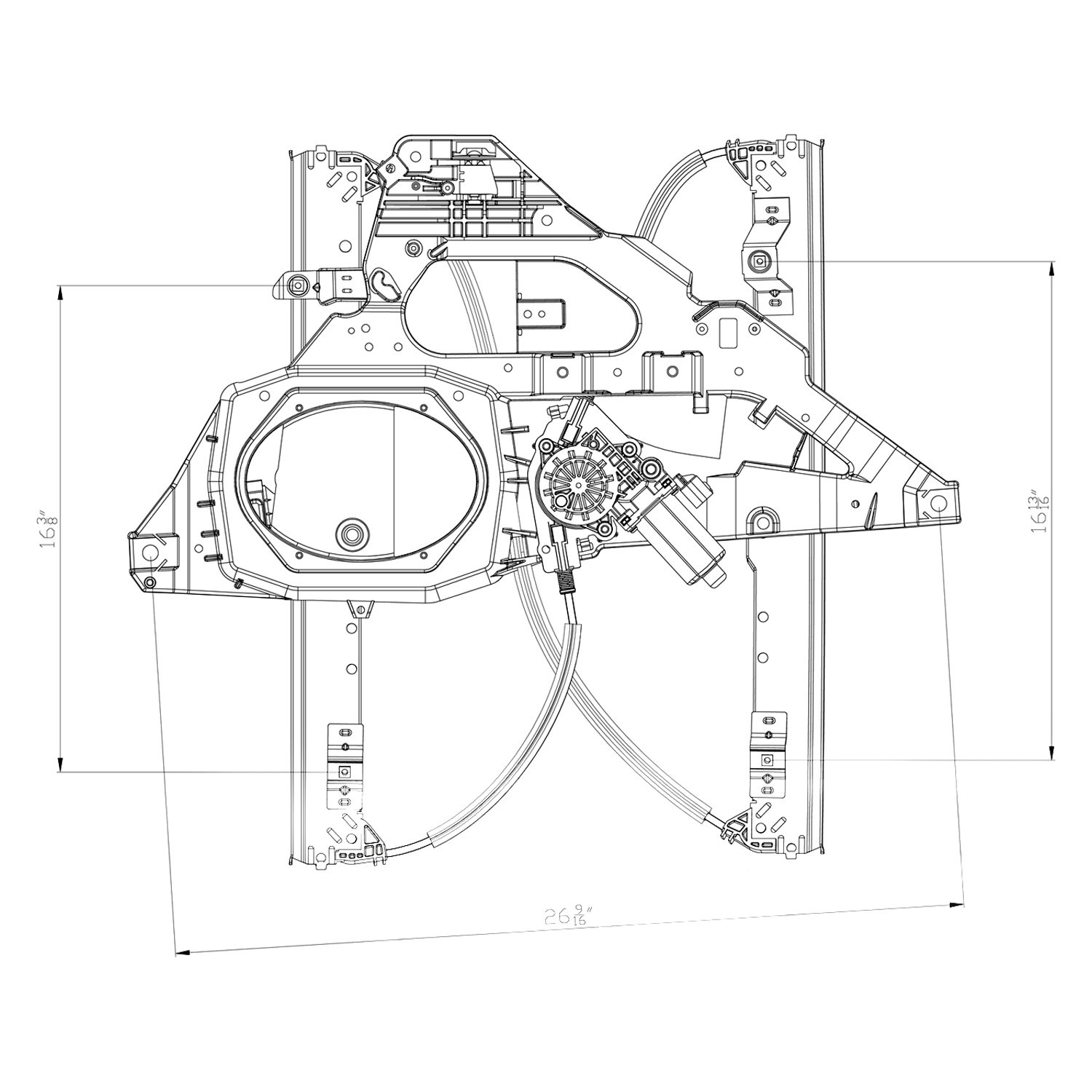 For Ford Expedition 07 17 Window Regulator And Motor