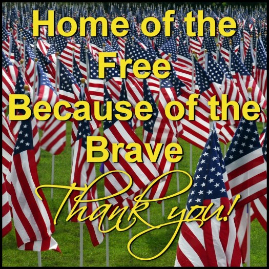 Thank you Veterans and Military Men Women and Families