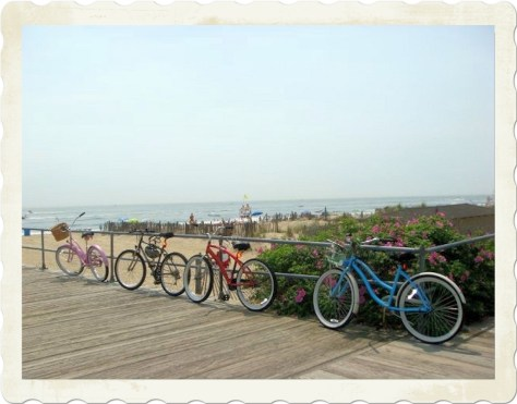 Bikes on Ocean Grove Boardwalk