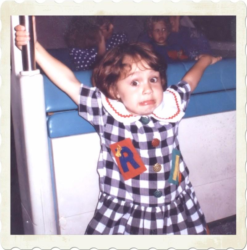 Sammie on Disneyworld Monorail