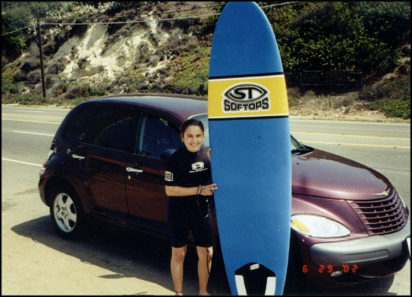 Surfing in California
