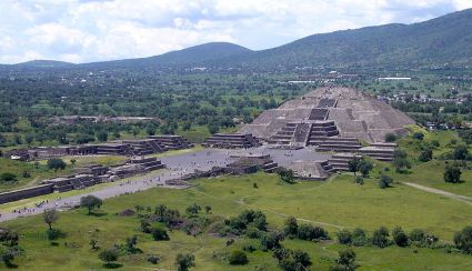 Mexican Pyramid of the Moon and Avenue of the Dead