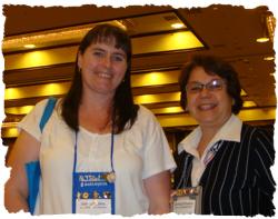 Deb Mullins and me, Caridad, at the Literacy Fair