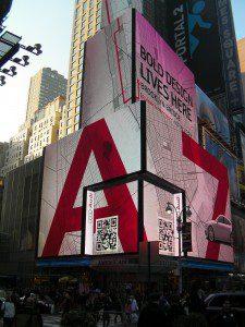 Publicité Audi A7 sur Time Square
