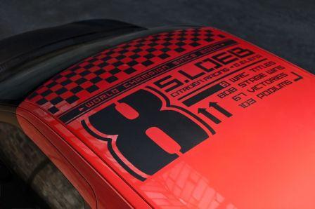 Citroen DS3 racing Sebastien Loeb avec le 8 Les autocollants 8....années consécutives depuis 2004...