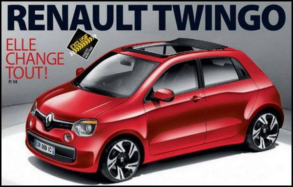 Renault Twingo 2014 esquisse (c) Argus