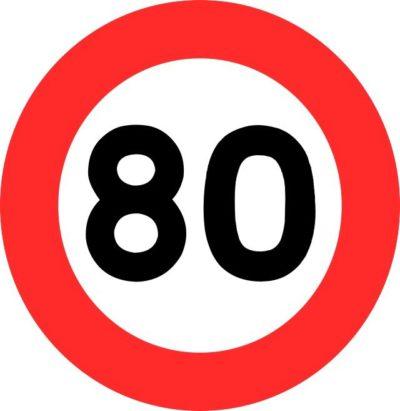 limitation de vitesse 80 km/h route nationale france