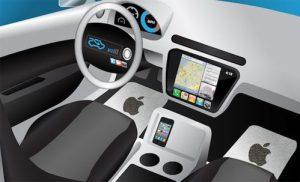 L'ergonomie de la voiture d'Apple et sa Icar et ses services connectés.