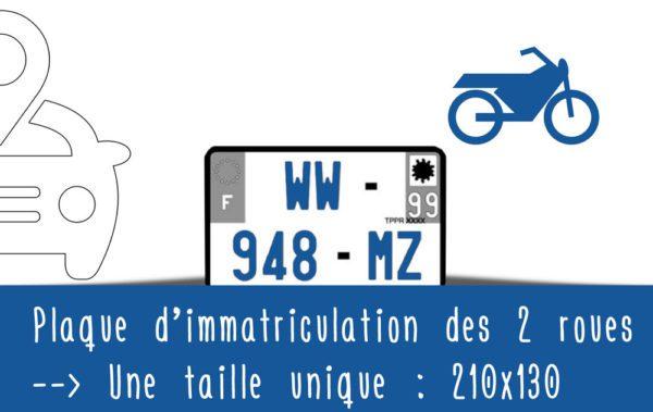 Législation routière 2017 : Taille unique des plaques d'immatriculation pour toutes les motos 210*130