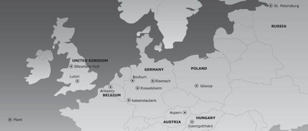 Usines Opel en Euope
