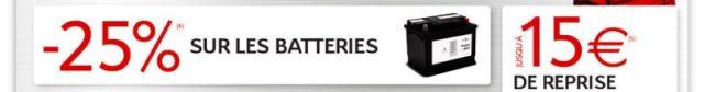 Batterie voiture pas chère