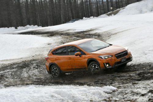 Subaru XV 2017 dans la neige