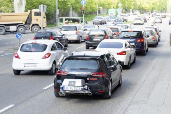 Test de pollution diesel dans les bouchons : Test emission de pollution : La nouvelle technologie Bosch de moteur diesel propre