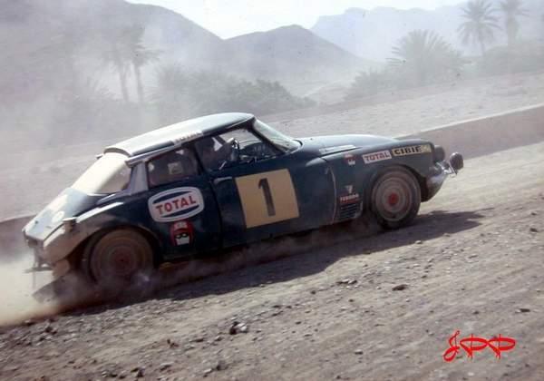 Bob Neyret et sa DS au Rallye du Maroc 1970