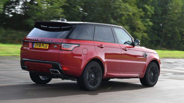 Vue arrière range Rover Sport