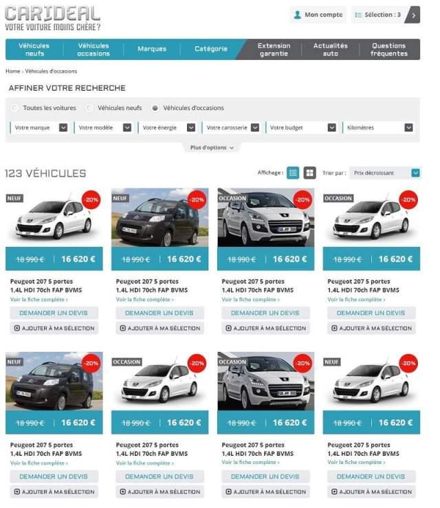 Comment vendre sa voiture d'occasion ? Carideal site de vente de voiture en ligne