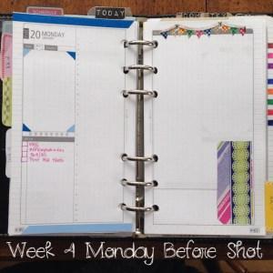 Week 4 Monday Before Shot