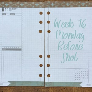 Week 16 Monday Before Shot