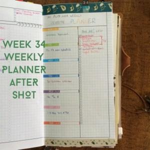 Week 34 Weekly Planner After Shot