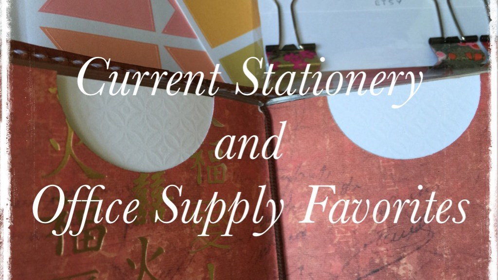 Current Stationery and Office Supply Favs FI