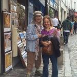 2014 Susan & Kathleen in Paris around their visit to Plum Village w Thich Naht Hanh