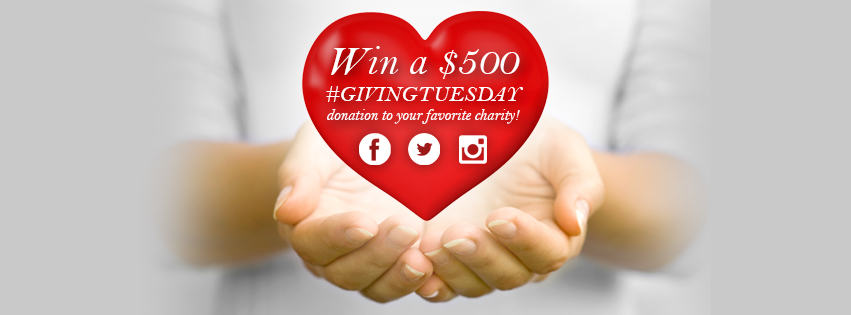 Win a $500 donation to your favorite charity!