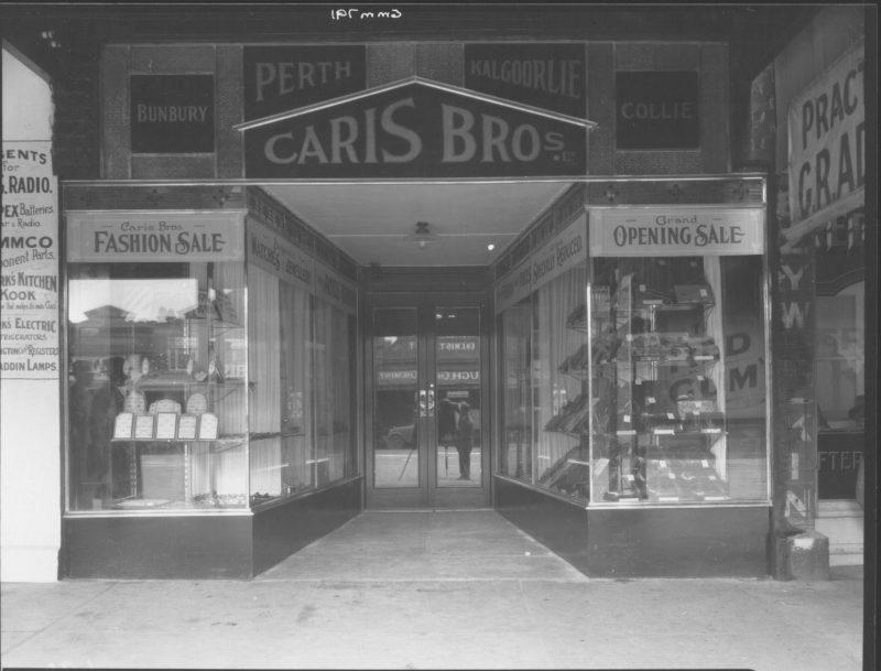 Photo Caris Brothers shop, Perth Australia