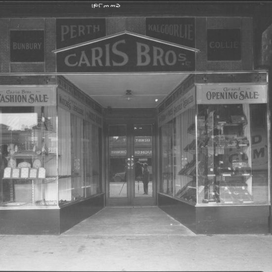 Photo Caris Brothers shop, Perth Australia