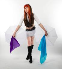 Magician with Parasols - Photography by Bryce Murdoch