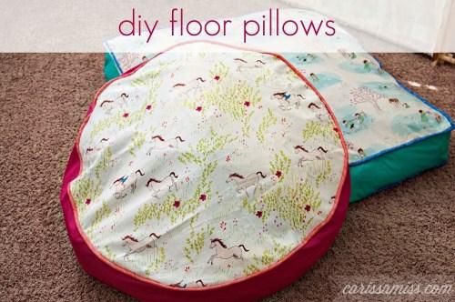 diy floor pillows. http www carissamiss com diy floor pillows  Make Your Own Floor Pillows