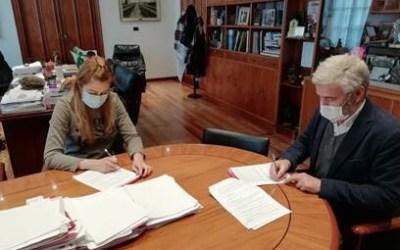 Firma del convenio de Agroecología con el ayuntamiento de Miranda