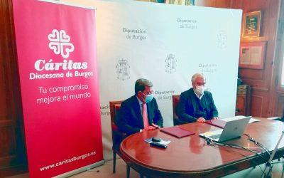 Cáritas y la Diputación de Burgos renuevan su convenio
