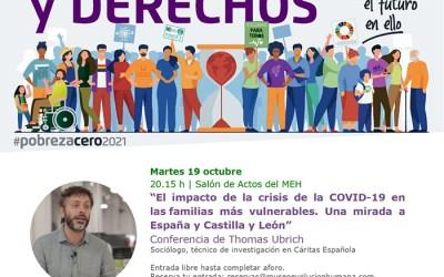 Conferencia sobre el COVID y las familias vulnerables en Castilla y León