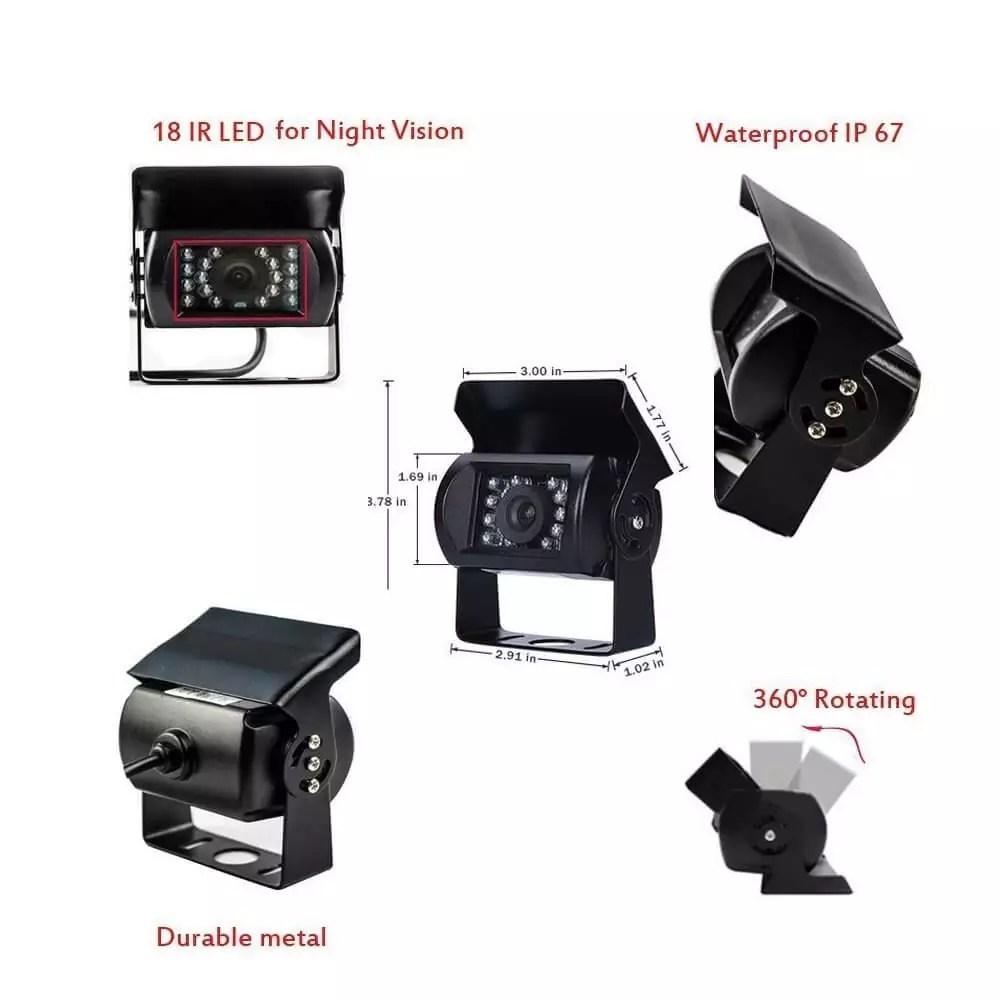 Camecho RC 12V 24V Car Backup Camera review