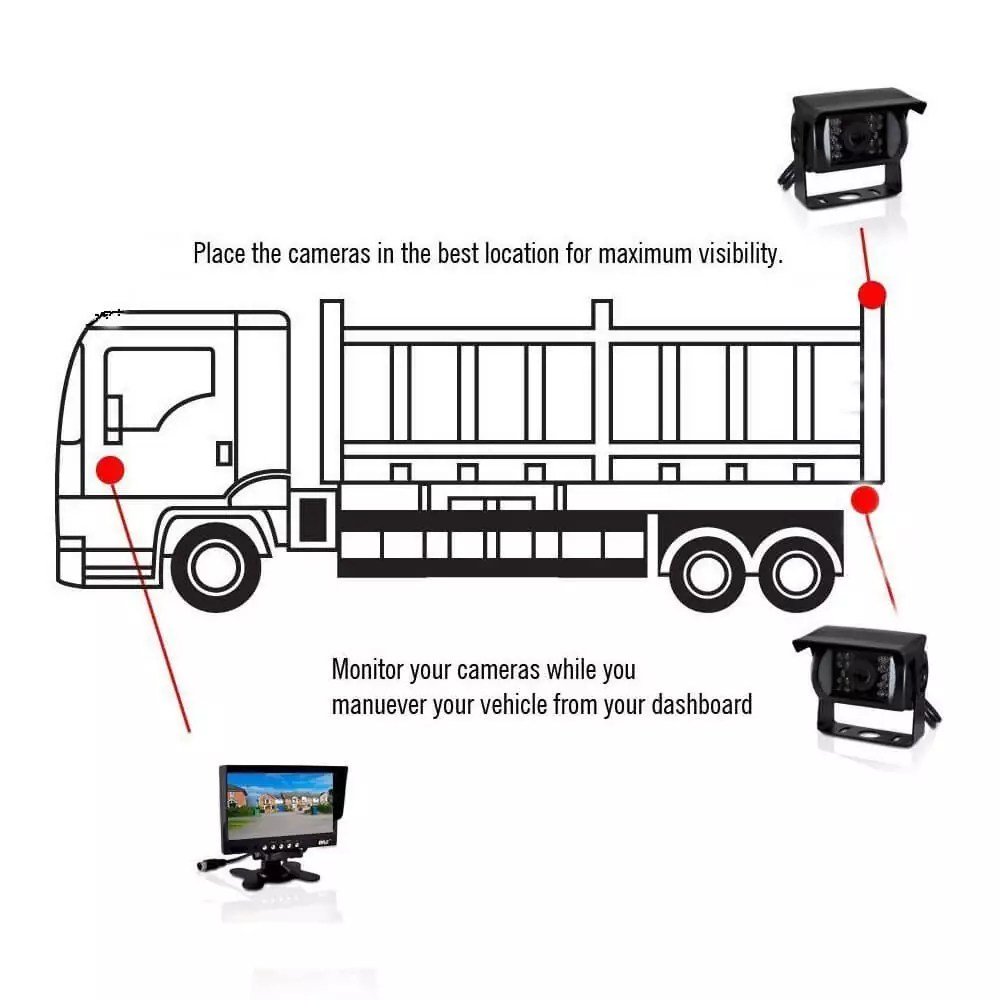 how to install backup camera on a truck